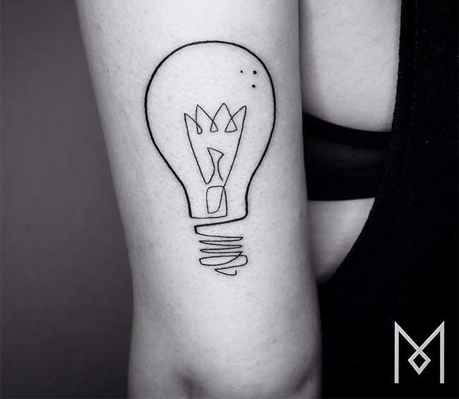 Tatuaże Rysowane Linią Ciągłą Cz 4